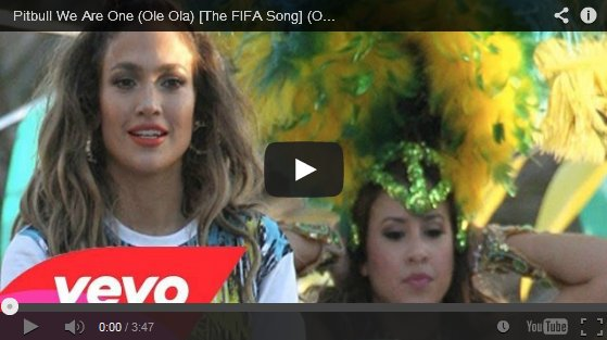 Pitbull We Are One (Ole Ola)  Ft.Jennifer Lopez, Cláudia Leitte [The FIFA Song]